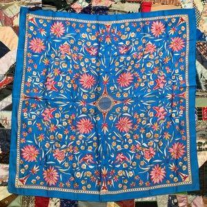 Vintage 1985 Smithsonian Floral Large Silk Scarf